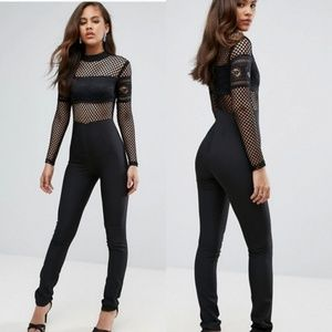 NWT ASOS True Decadence Lace Mesh Jumpsuit